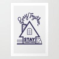 Pray Together Stay Together Art Print