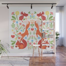 Early Fall Festive Flower Frolic Wall Mural