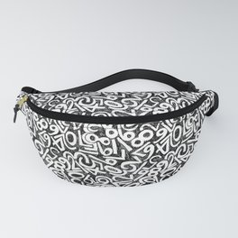 Numbers pattern in black and white Fanny Pack