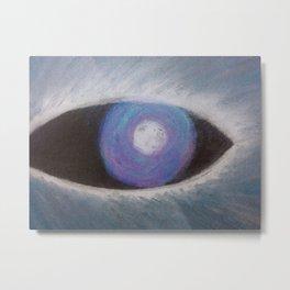 Werewolf Eye Blue Metal Print