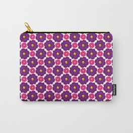 Pink and Purple Pearl Flower Pattern Carry-All Pouch