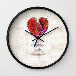 Red Heart Art - Love Is - By Sharon Cummings Wall Clock