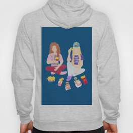 french fry friends fries best friends fries before guys color background Hoody