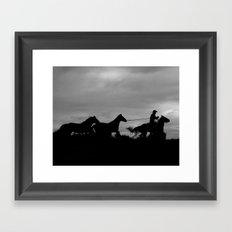 Homeward Bound Cowboy Framed Art Print