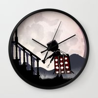 dalek Wall Clocks featuring Dalek Kid by Andy Fairhurst Art