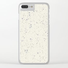 Chaotic circles pattern. Cream. Clear iPhone Case