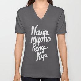 Nam Myoho Renge Kyo - Light on Dark Unisex V-Neck