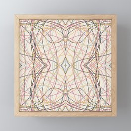 Filigree Clored Lines Etiainen Framed Mini Art Print