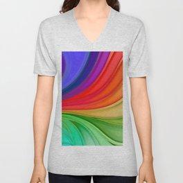 Abstract Rainbow Background Unisex V-Neck
