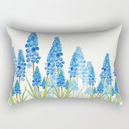 blue grape  hyacinth forest Rectangular Pillow