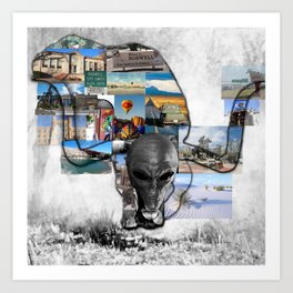 The Life of Roswell Art Print