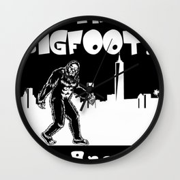 Bigfoot in Los Angeles Bigfoot gifts CALI t funny gift T- Wall Clock