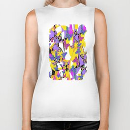 Decorative Spring Monarch Butterfly Frenzy Abstract Biker Tank