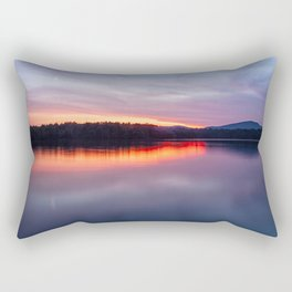 evening on raquette lake Rectangular Pillow