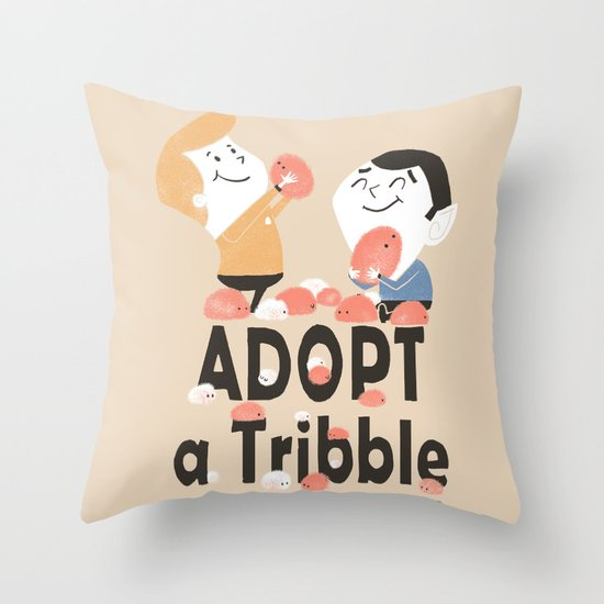 Adopt a Tribble Throw Pillow