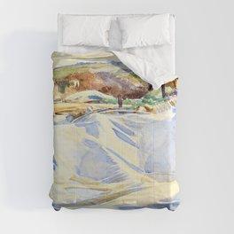 John Singer Sargent - A Tarpaulin over a Dug-out, Ransart - Digital Remastered Edition Comforters