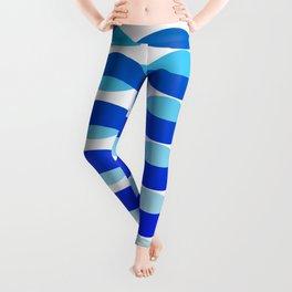 Waving Blue Pattern Leggings