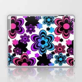 Rainbow Floral Abstract Laptop & iPad Skin