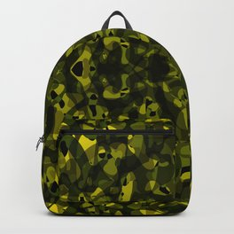 Brilliant ornament of yellow spots and velvet blots on black. Backpack