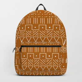 Mudcloth Style 1 in Orange Backpack