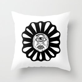 THIRD EYE FLOWER Throw Pillow