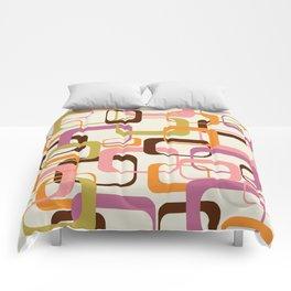 Mid Century Mod Shapes Comforters