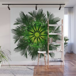 The Majesty Palm Light Flower Wall Mural