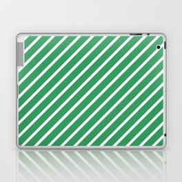 Kelly Green Tight Stripes Laptop & iPad Skin