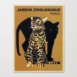 Vintage Paris Garden Zoo Ad Canvas Print