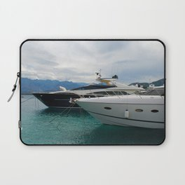 Yachts Moored in Harbor at Calvi France Laptop Sleeve