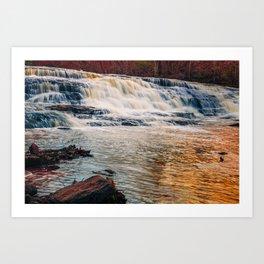 Golden Shacktown Falls Art Print