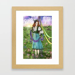 Beltane May Day Spring Equinox Framed Art Print