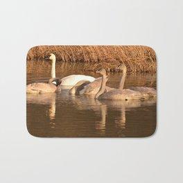 Trumpeter Swan Family Bath Mat