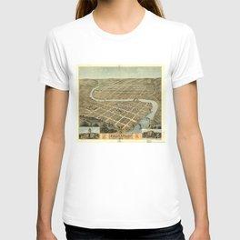 Vintage Map of Frankfort Kentucky T-shirt