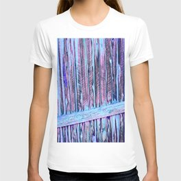 Blue Abstract Fence T-shirt
