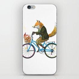 Fox goes to Tea (white) iPhone Skin