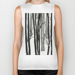 wood and snow Biker Tank