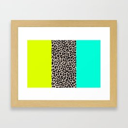 Leopard National Flag XI Framed Art Print