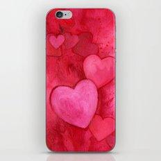Valentine's Hearts iPhone & iPod Skin