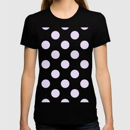 Geometric Orbital Circles In Pale Delicate Summer Fresh Lilac Dots on White T-shirt