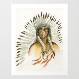 The Last Comanche Chief Art Print