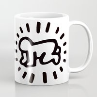 keith haring Mugs featuring Keith Haring: Radiant Baby from Icons series, 1990 by cvrcak