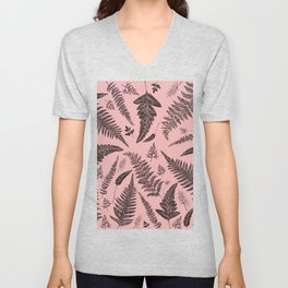 Pink Ferns Unisex V-Neck