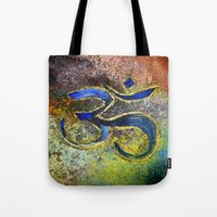 namaste Tote Bags featuring Namaste by Imperfection_Art