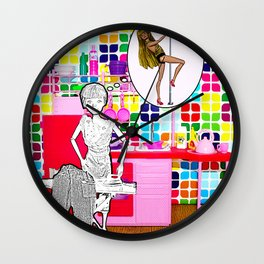 Barbie Dreams Of A More Colourful Life! Housewife Humour! Wall Clock