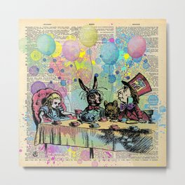 Tea Party Celebration - Alice In Wonderland Metal Print