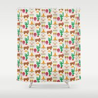 mexico Shower Curtains featuring Mexico by Ana Types Type