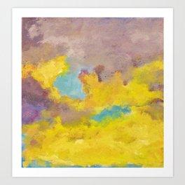 Yellow & Purple Clouds Art Print