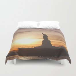 Lady at Sunset Duvet Cover