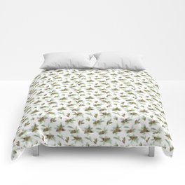 pine branches and cones pattern Comforters